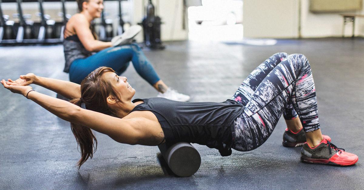 Foam Rolling At Gym